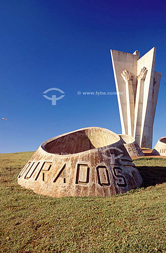 Monumento dos Colonos - Dourados - Mato Grosso do Sul - Brasil / Data: 2008
