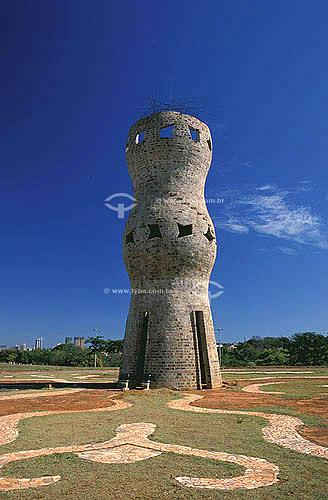Monumento no Parque das Nações Indígenas - Campo Grande - Mato Grosso do Sul - Brasil  - Campo Grande - Mato Grosso do Sul - Brasil