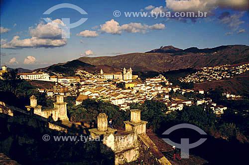 Cidade de Ouro Preto  - MG - Brasil. Data: 1990  A cidade de Ouro Preto é Patrimônio Mundial pela UNESCO desde 05-09-1980.