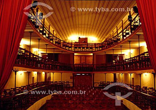 Interior da Casa da Ópera Teatro Municipal - Ouro Preto - Minas Gerais - Brasil / Data: 2009 A cidade de Ouro Preto é Patrimônio Mundial pela UNESCO desde 05-09-1980.