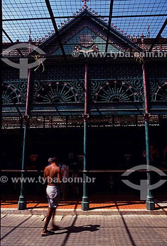 Mercado de Ferro - Ver-o-Peso - Belém - PA - Brasil   O mercado Ver-o-Peso criado em 1688 é hoje o principal ponto turístico de Belém; é Patrimônio Histórico Nacional desde 09-11-1977 e o tombamento inclui as áreas adjacentes ao conjunto Ver-o-Peso.  - Belém - Pará - Brasil
