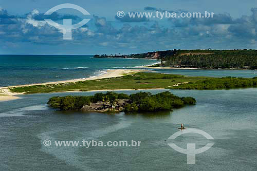 Praia Barra do Gramame - Jacumã - PB - Brasil  - Conde - Paraíba - Brasil