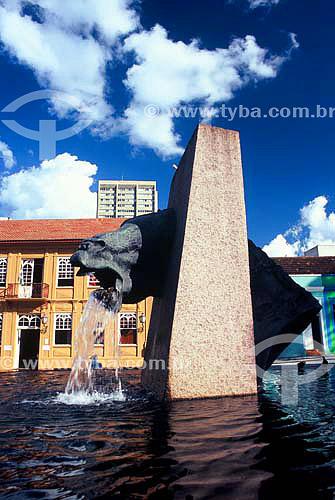 Fonte da Memória - Praça Garibaldi - Curitiba - Paraná - Março 2005  - Curitiba - Paraná - Brasil