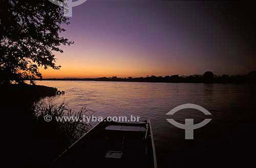 Anoitecer - Parque Nacional de Ilha Grande - Paraná - Brasil - Abril de 2004  - Paraná - Brasil