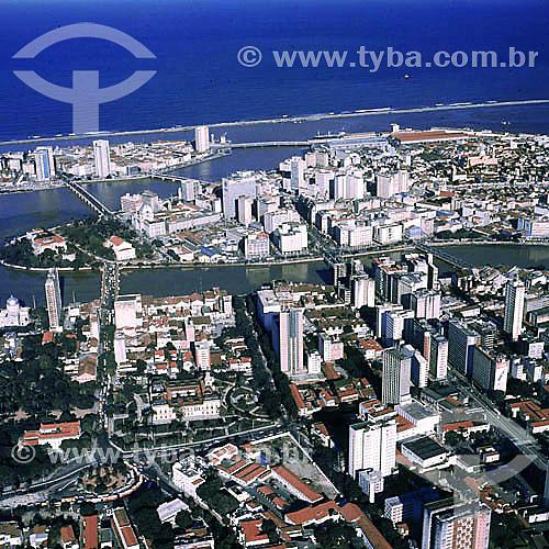 Vista aérea de Recife - PE - Brasil / Data: 1996