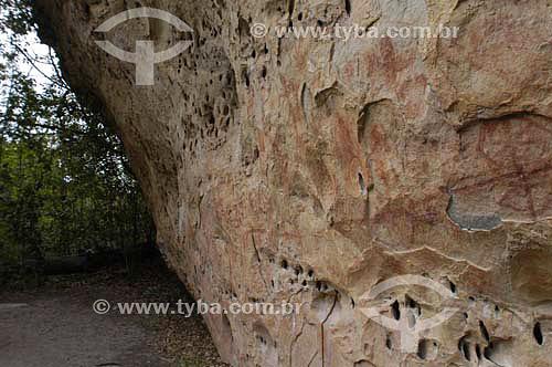 Pinturas Rupestres no Parque Nacional de Sete Cidades - Piauí - Fevereiro de 2006  - Piauí - Brasil