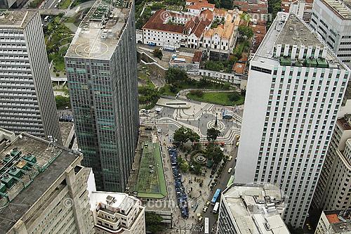 Vista aérea do convento Santo Antônio e Largo da Carioca - centro do Rio de Janeiro - RJ - Brasil  - Rio de Janeiro - Rio de Janeiro - Brasil