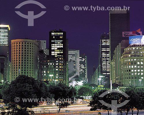 Praça Marechal Floriano na Cinelândia - Rio de Janeiro - RJ - Brasil  - Rio de Janeiro - Rio de Janeiro - Brasil