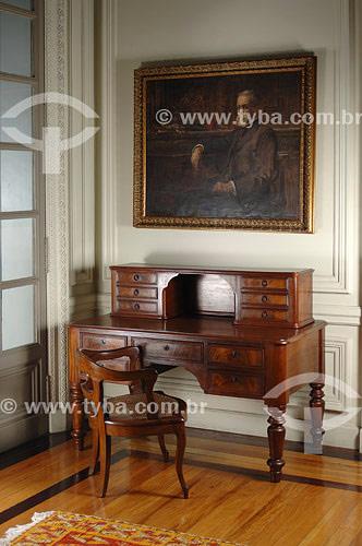Escrivaninha que pertenceu à Machado de Assis,  exibida na Sala Machado de Assis - Acervo Academia Brasileira de Letras (ABL) - Rio de Janeiro - RJ - Brasil. Data: Fevereiro 2008