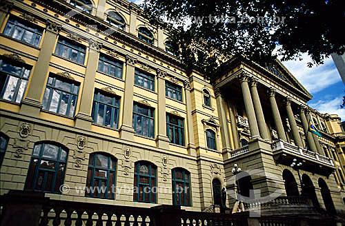 Biblioteca Nacional - Centro do Rio de Janeiro - RJ - Brasil. Data: 2003  A Biblioteca foi construída entre 1905 e 1910. é Patrimônio Histórico Nacional desde 24-05-1973.