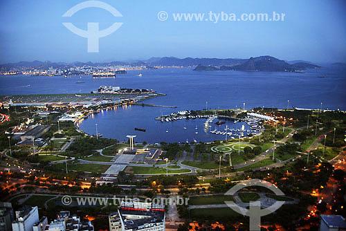 Assunto: Vista aérea do Aterro e Marina da Glória com Pão de Açúcar ao fundo / Local: Rio de Janeiro - RJ - Brasil / Data: 2007