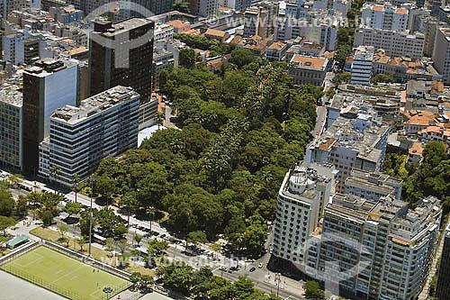 Vista aérea do Parque do Flamengo, Jardins do Museu da República e bairro do Catete ao fundo - Rio de Janeiro - RJ - Brasil  - Rio de Janeiro - Rio de Janeiro - Brasil