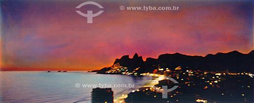 Pôr-do-sol em Ipanema - Rio de Janeiro - RJ - Brasil  - Rio de Janeiro - Rio de Janeiro - Brasil