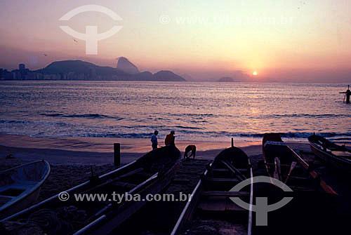 Praia de Copacabana - Rio de Janeiro - RJ - Brasil  - Rio de Janeiro - Rio de Janeiro - Brasil