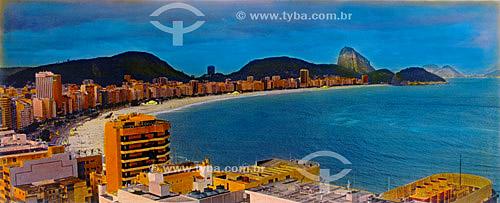 Vista da Praia de Copacabana - Rio de Janeiro - RJ - Brasil  - Rio de Janeiro - Rio de Janeiro - Brasil