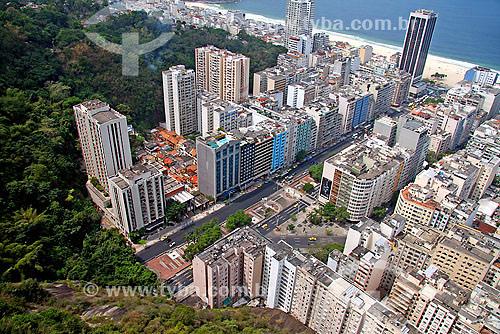 Vista aérea da Avenida Princesa Isabel - Copacabana - Rio de Janeiro - RJ - Brasil - Setembro de 2007  - Rio de Janeiro - Rio de Janeiro - Brasil