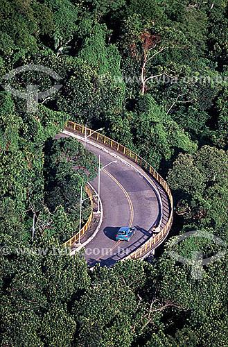 Vista aérea da Estrada das Canoas na Floresta da Tijuca - Rio de Janeiro RJ - Brasil  Patrimônio Histórico Nacional desde 27-04-1967.  - Rio de Janeiro - Rio de Janeiro - Brasil