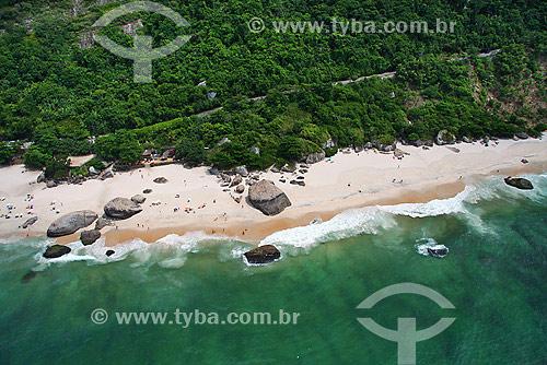 Vista aérea da Praia do Abricó (usada por naturistas) - Grumari - Rio de Janeiro - RJ - Brasil - Janeiro de 2008  - Rio de Janeiro - Rio de Janeiro - Brasil