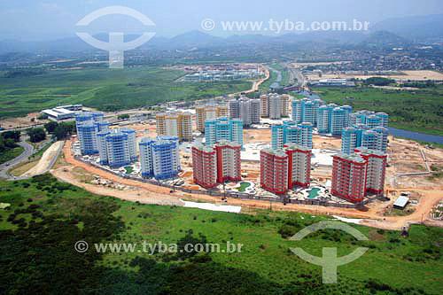 Vista aérea da Vila Pan-americana - Barra da Tijuca - Rio de Janeiro - RJ - Brasil - Novembro de 2006  - Rio de Janeiro - Rio de Janeiro - Brasil