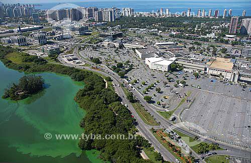 Viista aérea do Barra Shopping e parte da Lagoa da Tijuca - Rio de Janeiro - RJ - Brasil  - Rio de Janeiro - Rio de Janeiro - Brasil