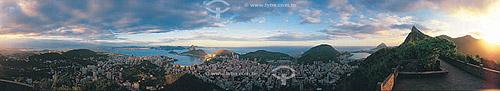 Vista panorâmica (360°) da Zona Sul do Rio de Janeiro - RJ - Brasil  - Rio de Janeiro - Rio de Janeiro - Brasil