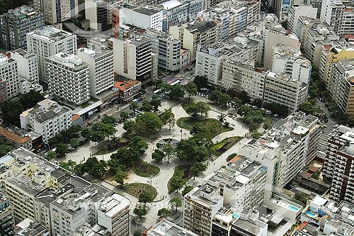 Vista aérea da Praça Nossa Senhora da Paz - Ipanema - Rio de Janeiro - RJ - Brasil / Data: 2004