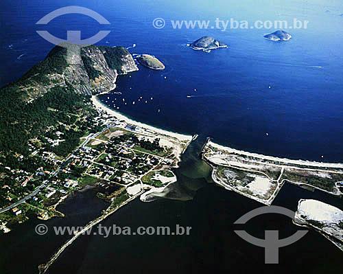 Vista aérea da Praia de Itaipú - Niterói -Rio de Janeiro - RJ - Brasil  - Niterói - Rio de Janeiro - Brasil