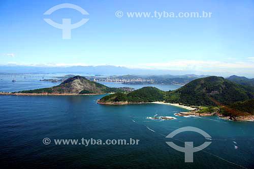 Vista aérea da Praia e do Forte do Imbuí - Niterói - RJ - Brasil - Novembro de 2006  - Niterói - Rio de Janeiro - Brasil