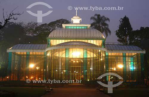 Palácio de Crista à noite - Petrópolis - RJ - Brasil  - Petrópolis - Rio de Janeiro - Brasil