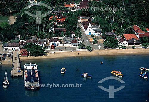 Vista aérea da Vila do Abraão - Ilha Grande - Baía de Angra dos Reis - Costa Verde - RJ - Brasil / Data: 2005