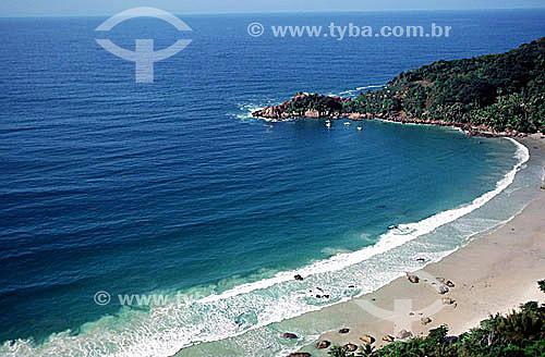 Vista aérea da Praia do Aventureiro - Ilha Grande - APA dos Tamoios - Baía de Angra dos Reis - Costa Verde - RJ - Brasil / 1997  - Angra dos Reis - Rio de Janeiro - Brasil