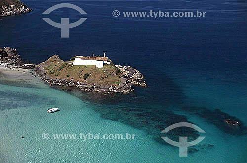 Vista aérea do Forte São Matheus, construído em 1617 - Praia do Forte - Costa do Sol - Região dos Lagos - Cabo Frio - RJ - Brasil / Data: 2003  Patrimônio Histórico Nacional desde 05-10-1956.
