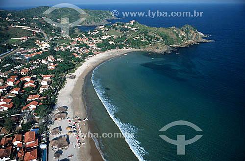 Vista aérea da Praia de Geribá - Búzios - Costa do Sol - Região dos Lagos - RJ - Brasil  - Armação dos Búzios - Rio de Janeiro - Brasil