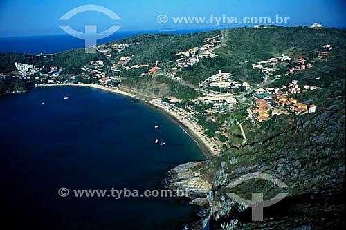 Vista aérea da Praia de João Fernandes - Búzios - Costa do Sol - Região dos Lagos - RJ - Brasil  - Armação dos Búzios - Rio de Janeiro - Brasil