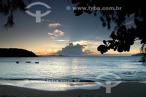 Entardecer na Praia da Tartaruga - Búzios - Região dos Lagos - Litoral norte do Rio de Janeiro - Brasil                        - Armação dos Búzios - Rio de Janeiro - Brasil
