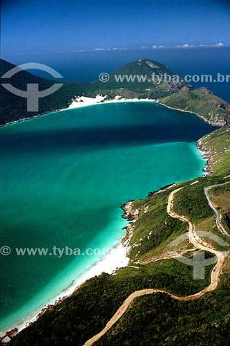 Vista aérea da Praia do Pontal do Atalaia - Arraial do Cabo - Costa do Sol - Região dos Lagos - RJ - Brasil / Data: 2003