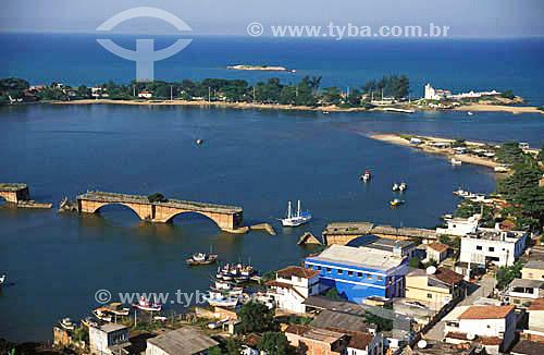 Vista aérea de Barra de São João - Litoral norte do Estado Rio de Janeiro - Brasil  - Casimiro de Abreu - Rio de Janeiro - Brasil