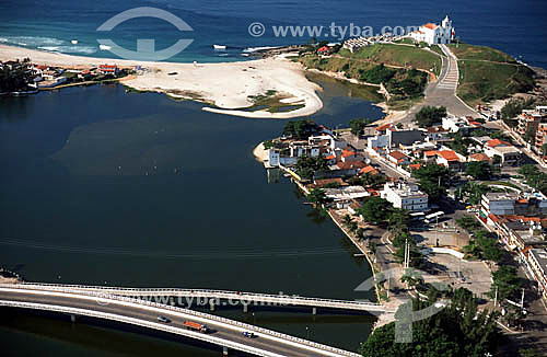 Vista aérea de Saquarema - Costa do Sol - Região dos Lagos - RJ - Brasil  - Saquarema - Rio de Janeiro - Brasil