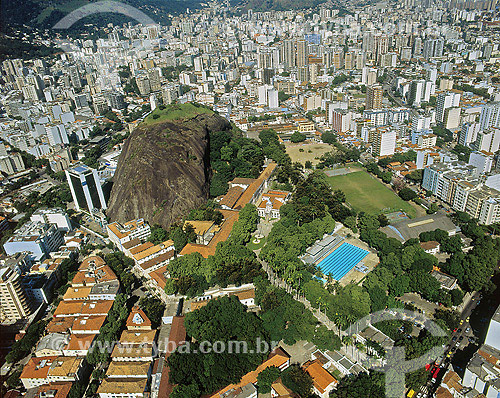 Vista aérea do Colégio Militar no bairro Tijuca - Rio de Janeiro - RJ - Brasil  - Rio de Janeiro - Rio de Janeiro - Brasil