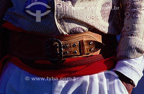 Detalhe da roupa de um gaúcho - RS - Brasil  - Rio Grande do Sul - Brasil