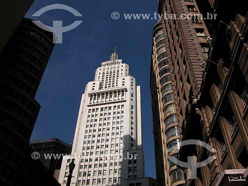 Prédio do Banespa e Edificio Martinelli no início da Av. São João - centro de  São Paulo - SP - Brasil  - São Paulo - São Paulo - Brasil