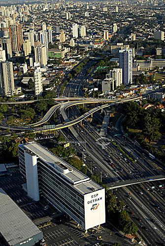 Vista aérea da Avenida 23 de Maio - São Paulo - SP - Brasil - 06/2006  - São Paulo - São Paulo - Brasil