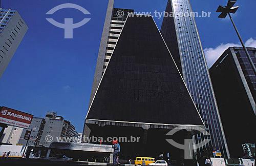 Prédio da FIESP (Federação das Indústrias de São Paulo) na Av. Paulista - SP - Brasil  - São Paulo - São Paulo - Brasil