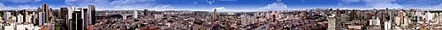 Vista panorâmica de 360 graus de São Paulo - SP - Brasil  - São Paulo - São Paulo - Brasil