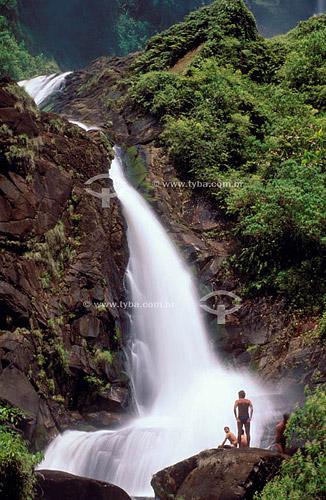 Cachoeira na Trilha do Ouro - Parque Nacional da Serra da Bocaina - SP - Brasil / Data: 2009