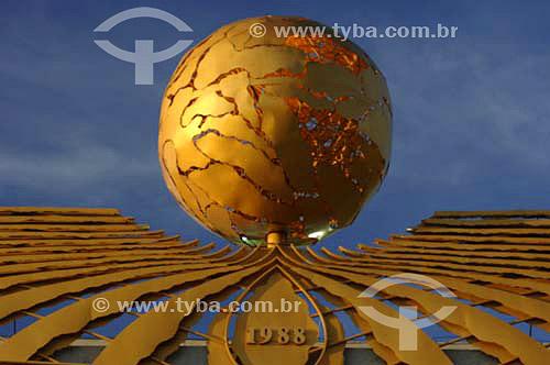 Detalhe do Palácio Araguaia - Sede do Governo - Contruído em 1988 -  Palmas - Tocantins - Brasil  - Palmas - Tocantins - Brasil