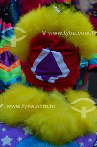 Pessoa fantasiada para o Carnaval de rua - Bloco Cordão do Bola Preta - Centro da cidade do Rio de Janeiro - Carnaval 2005 - RJ - Brasil  - Rio de Janeiro - Rio de Janeiro - Brasil