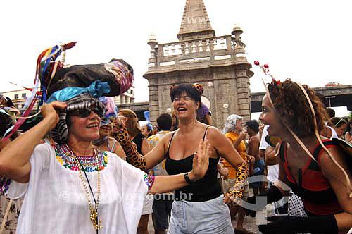 Foliões - Carnaval 2006 - Bloco de rua Boitatá  - Rio de Janeiro - RJ - Brasil -  Fevereiro 2006  - Rio de Janeiro - Rio de Janeiro - Brasil
