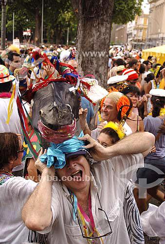 Folião - Carnaval 2006 - Bloco de rua Boitatá  - Rio de Janeiro - RJ - Brasil -  Fevereiro 2006  - Rio de Janeiro - Rio de Janeiro - Brasil