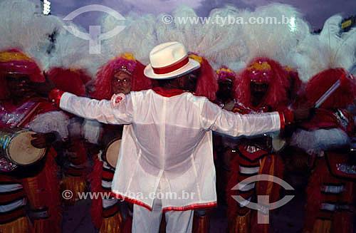 Diretor de bateria no desfile de carnaval da Escola de Samba Salgueiro - Rio de Janeiro - RJ - Brasil  - Rio de Janeiro - Rio de Janeiro - Brasil